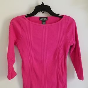 Ralph lauren pink ribbed cotton top size S